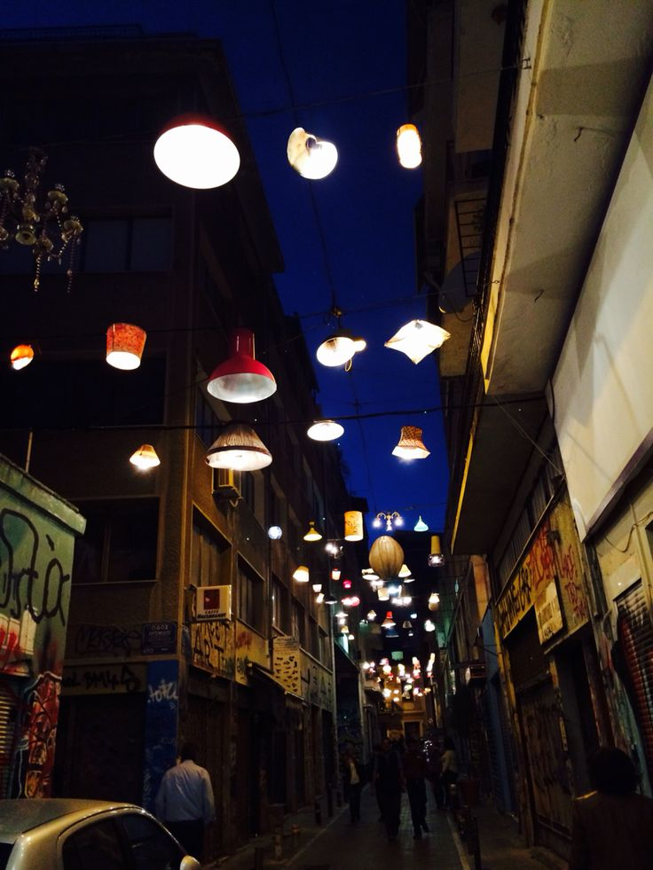 Street in monastiraki, Athens , Greece. What they did there is amazing