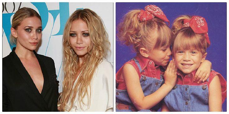 Olsen tweeling, toen en nu