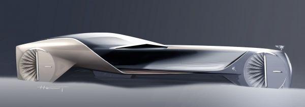 Design sketch of Rolls-Royce 103EX. #conceptcar #cardesign #automotive