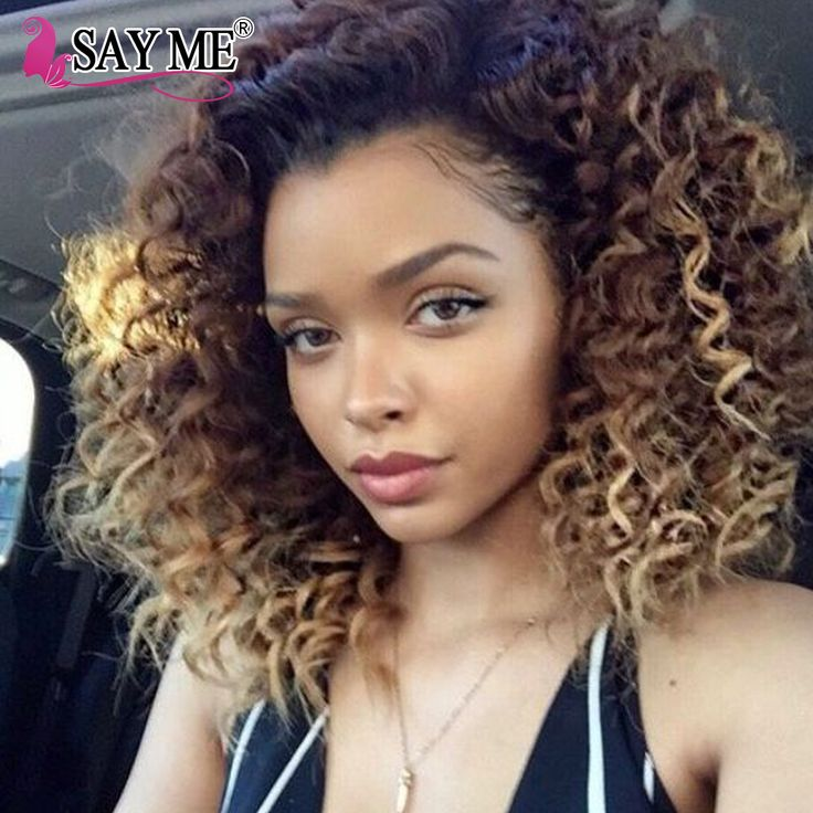NEW 8A Ombre Virgin Brazillian Curly Hair 4 Bundles 1B 27# Black And Blonde Ombre Two Tone Brazilian Weave Hair Curly Human Hair