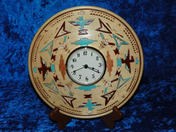 Clock Wall clock Southwestern Clock by TheChipChic on Etsy, $45.00