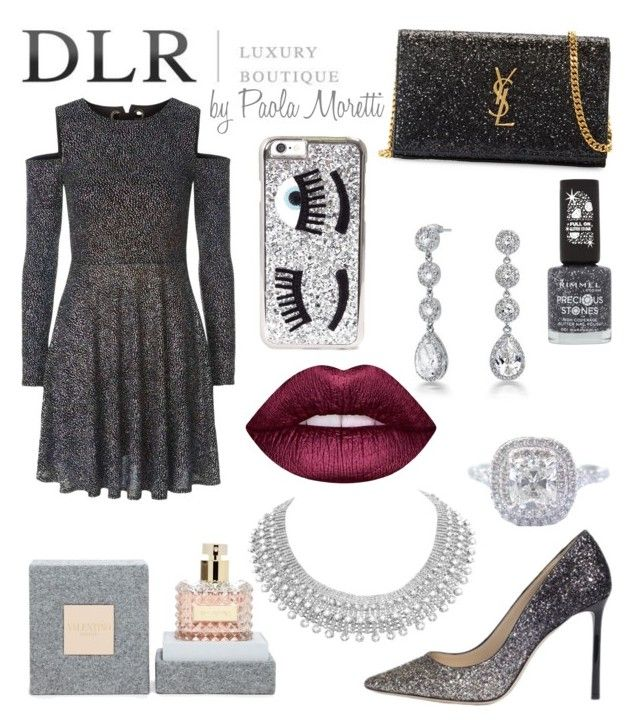 """""""DLR Style by Paola Moretti"""" by paola-moretti on Polyvore featuring Bling Jewelry, Yves Saint Laurent, Jimmy Choo, Topshop, Rimmel, Lime Crime, Chiara Ferragni, Tiffany & Co. and Valentino"""