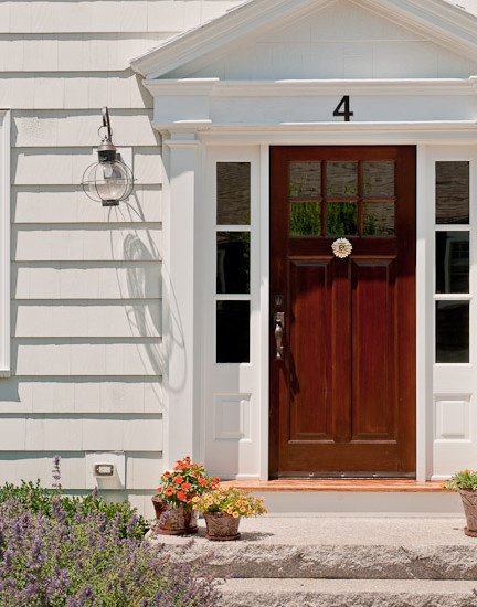 Beautiful Wood Front Door And Side Windows Sugarberry