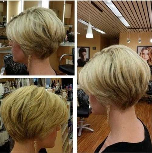 Image result for layered stacked bob short thick hair