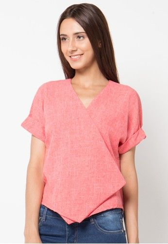 Short Sleeve Claire Top from Cocolyn Apparel in orange_1