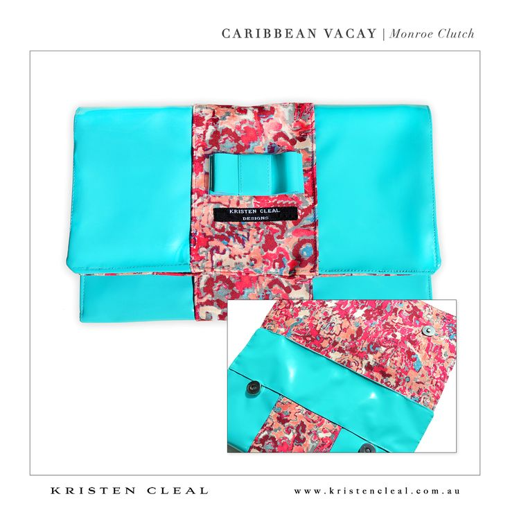 Monroe Clutch by Kristen Cleal Designs  Caribbean Vacay 2014 Collection
