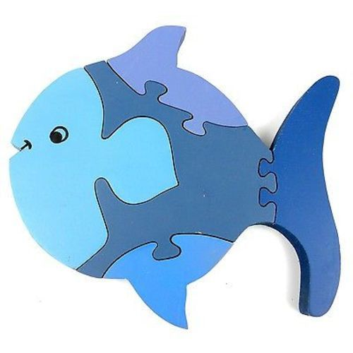 Crafted of sustainably harvested sheesham wood in India, this eight-inch fish puzzle in shades of blue is finely handcrafted, lead free, and perfect for play and display. Meet the Artisans MATR BOOMIE