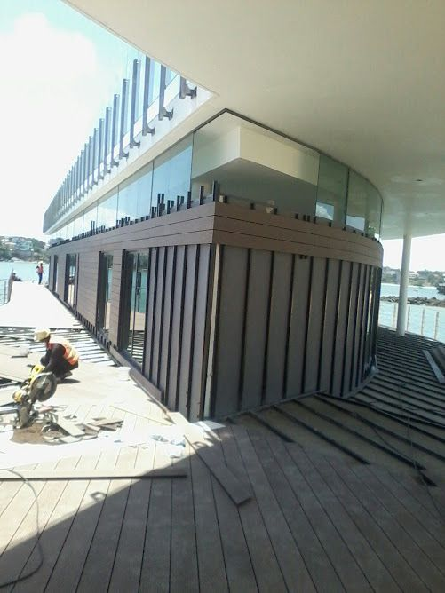 Wall cladding going in at the EnglishPoint Marina in Kenya. http://www.eva-tech.com/en/