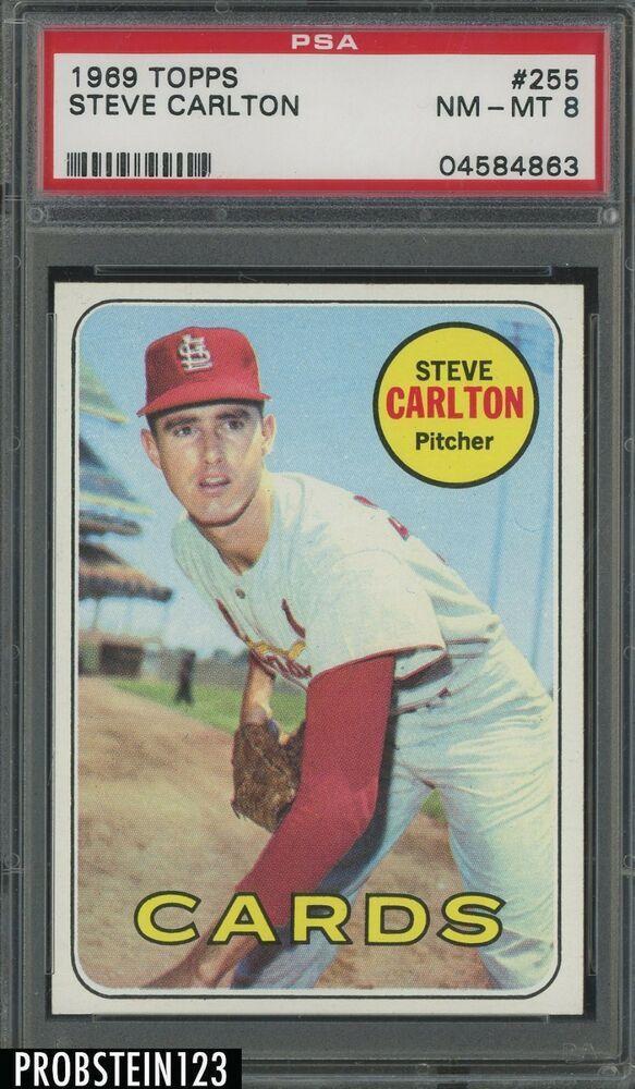 1969 Topps 255 Steve Carlton St Louis Cardinals Hof Psa 8