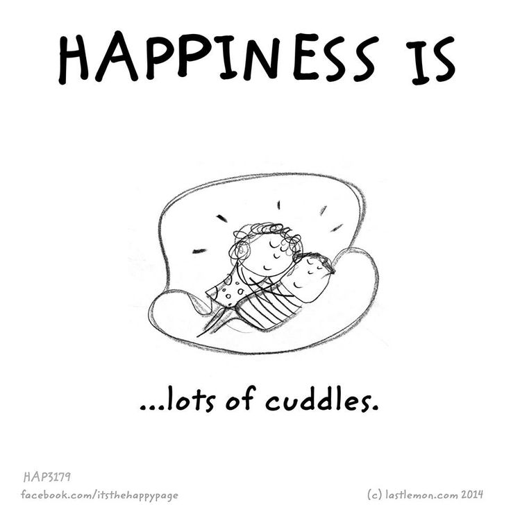 That is pretty happy. I love to cuddle with all my boys.