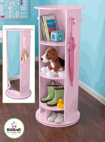 Rotating Kids Storage and Vanity