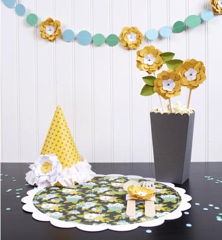 Girl's Birthday Party - Posy Flower Theme