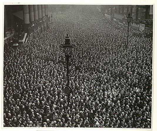 Two-Minute Silence, Armistice Day, London  Unknown, British   Date: 1919