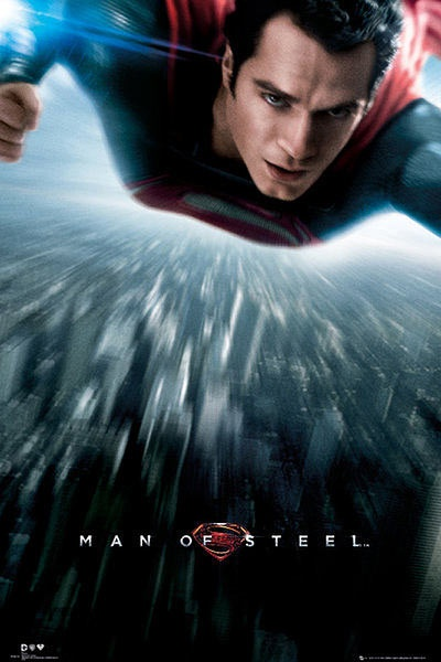 Póster Superman. Man of Steel, volando