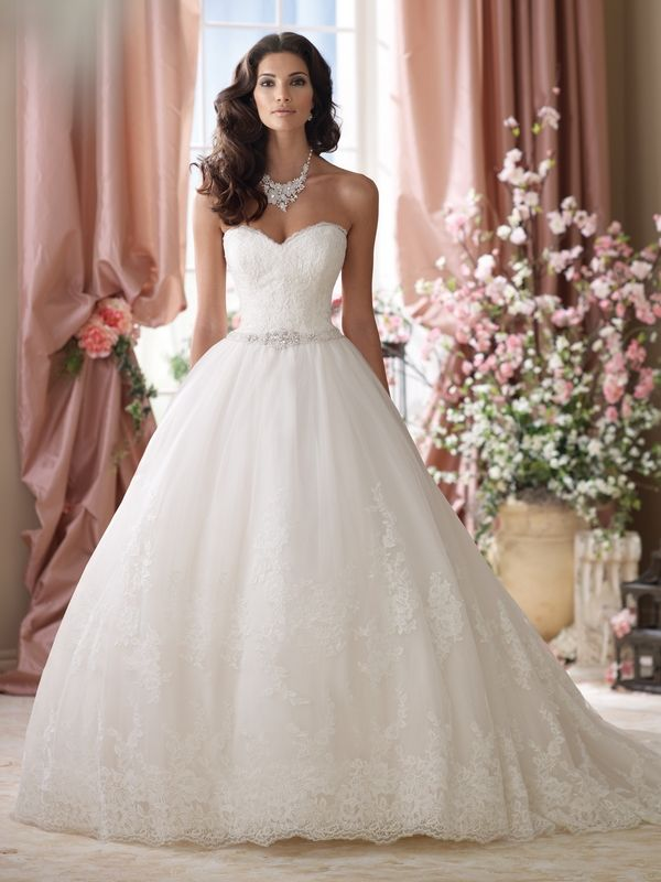 114289 Vera Wedding Dress - David Tutera for Mon Cheri Spring 2014 Bridal Collection