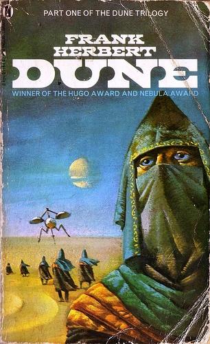 Dune by Frank Herbert. NEL Books 1984. Cover Art by Bruce Pennington.