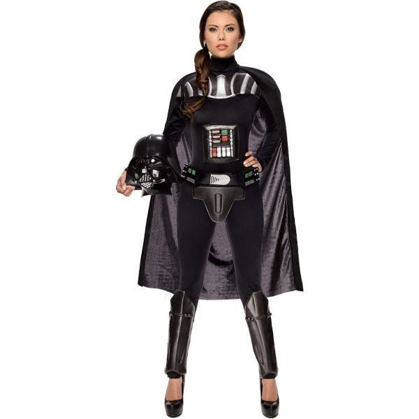 Adult Sassy Darth Vader Costume - Star Wars ($60) ❤ liked on Polyvore featuring costumes, adult costume, star wars costumes, darth vader halloween costume, star wars adult costumes and sassy halloween costumes