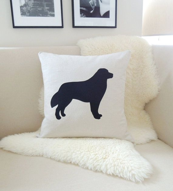 Hey, I found this really awesome Etsy listing at https://www.etsy.com/listing/177080561/bernese-mountain-dog-pillow-cover-flax