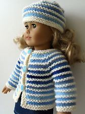 "free+matching+ag+doll+hats+to+knit | hand KNITTING PATTERN 18"" AG American Girl DOLL clothes OMBRE cardigan ..."