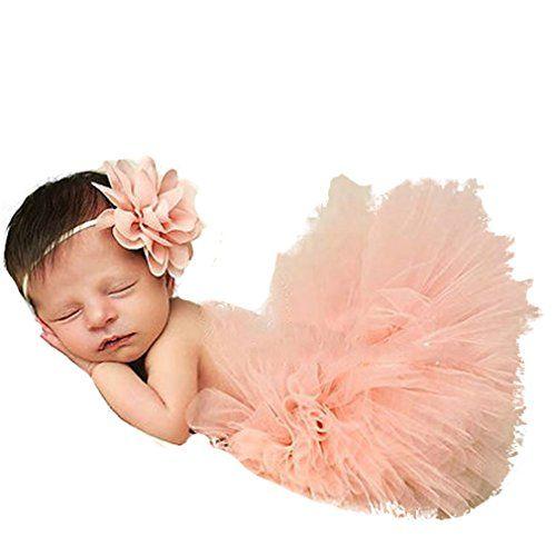HENGSONG Costume de bébé Nouveau-né Infant Bébé TuTu Robe et Bandeau Set 12 Styles (Rose cuir): 100% tout neuf et de haute qualité Ce bébé…
