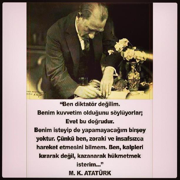 Devlet yönetenlere örnek olsun..  #Mustafa Kemal ATATÜRK