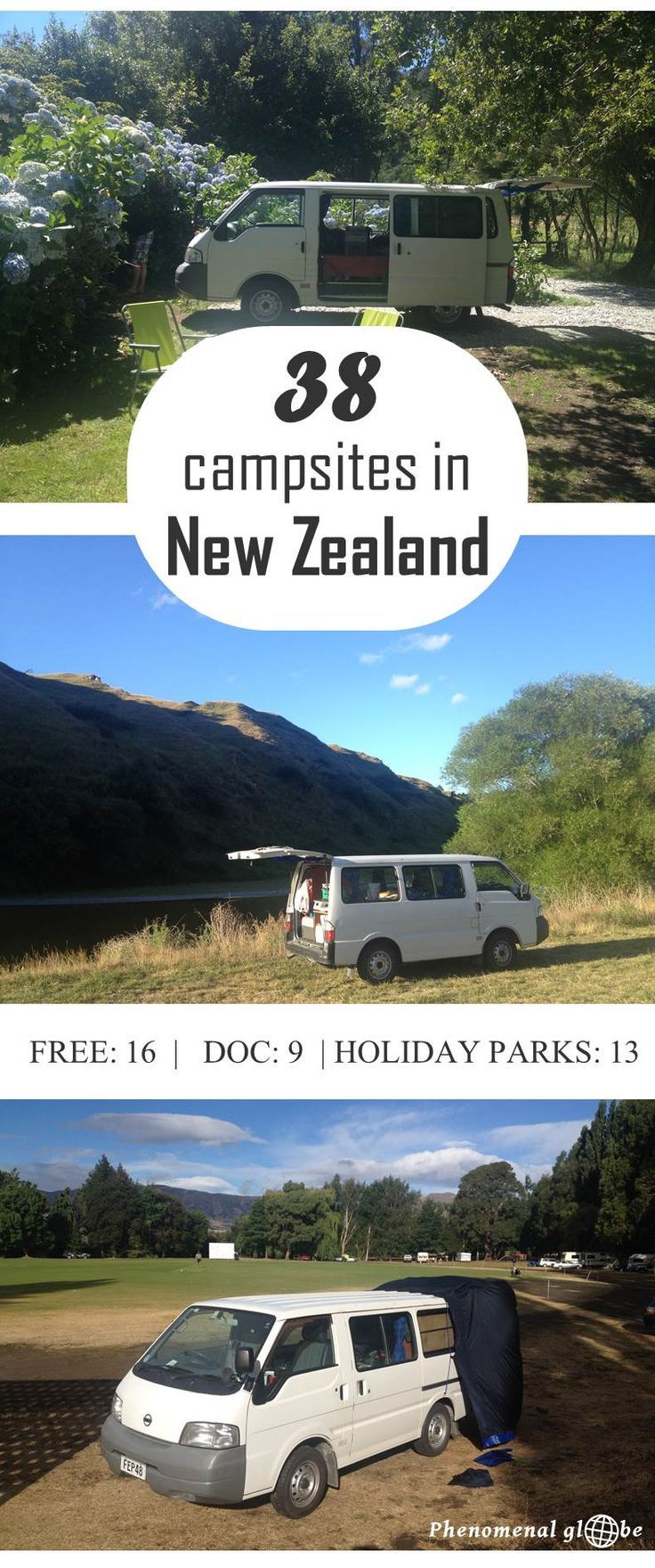 Camping in New Zealand, highly recommended! Where to camp? Check out these 38 great sites I stayed at the North and South Island (free campsites, DOC sites and Holiday Parks).