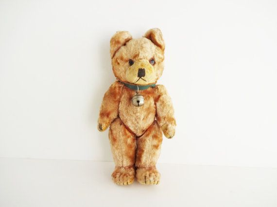 Antique Teddy Bear Stuffed Animal by LeVieuxSalon on Etsy