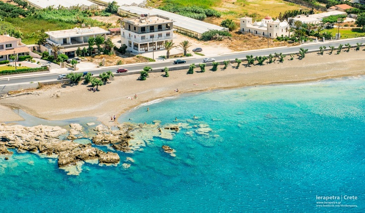 """St. Andreas Beach!       The beach of St. Andreas begins at the east end of the town of #Ierapetra in the """"Vrachia"""" (Rocks) position.  I