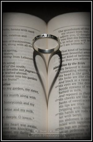 Wedding ring (purity ring) in Song of Solomon makes a heart.