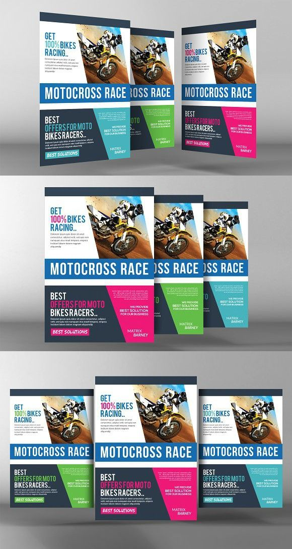 motocross race flyer template pinterest flyer template template