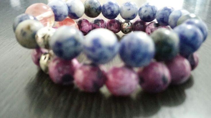 Sodalite stone meet purple stone
