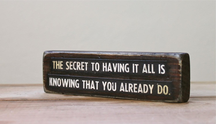 ♥ It's always right there inside/with you. You just gotta notice. :)