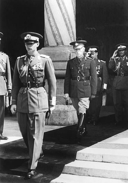 Romania The King Michael And The Marshall Ion Antonescu In September 1940