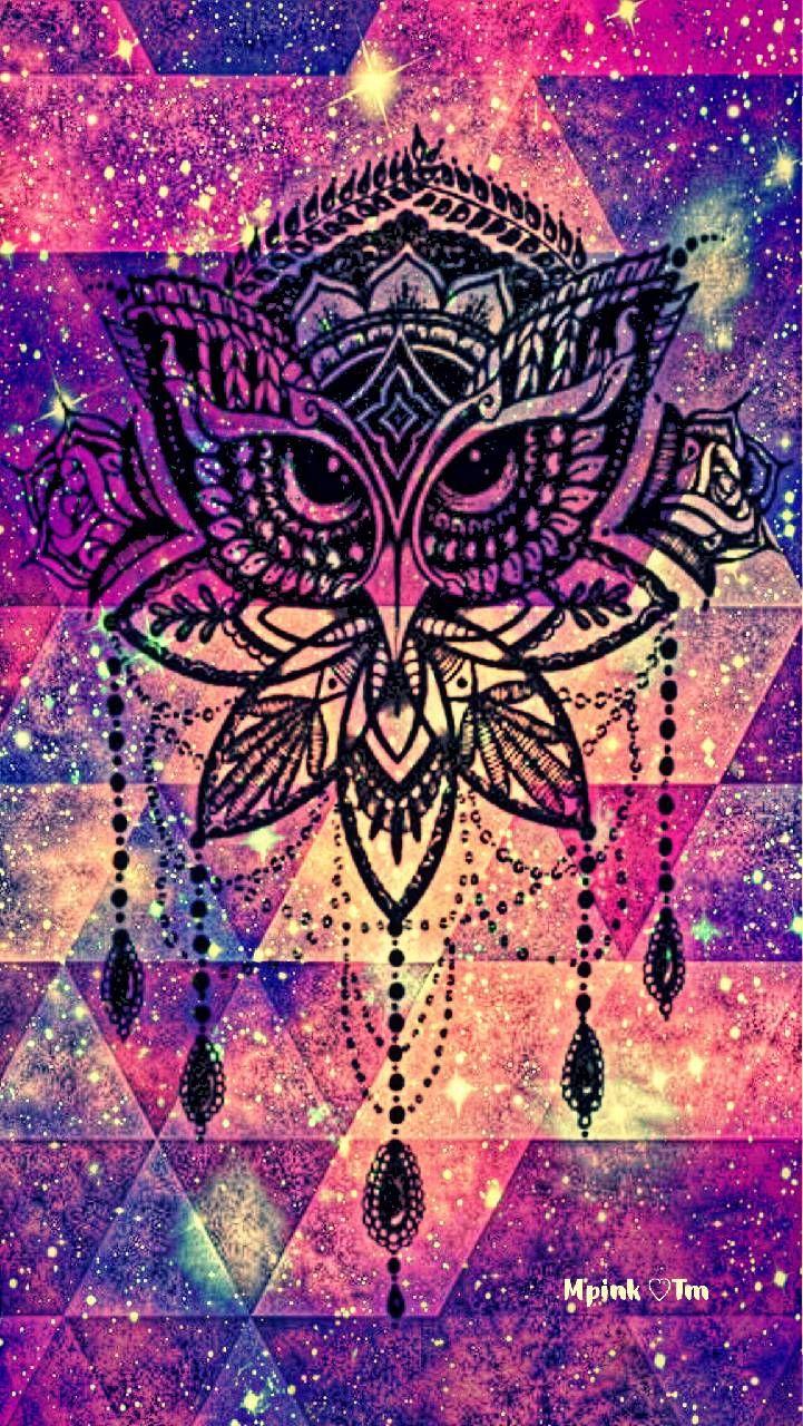 Zen Owl Galaxy Wallpaper Androidwallpaper Iphonewallpaper Wallpaper Galaxy Sparkle Glitter Lockscre Galaxy Wallpaper Pretty Wallpapers Android Wallpaper