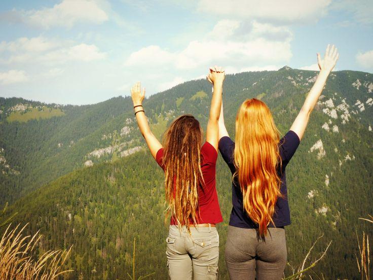 #Best #friends #Slovakia #dreadlocks #redhead #hair #long #girls #trip #nature #happy