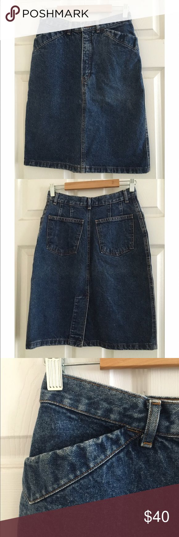 Vintage GAP Tight Denim Pencil Mini Skirt Sz. 25 Super cute vintage GAP denim pencil skirt! Cool pockets and sexy fit! Fits size 25 waist or Sz. 0/1 *I do not discuss pricing in comments, please make me an offer!* Vintage Skirts Pencil