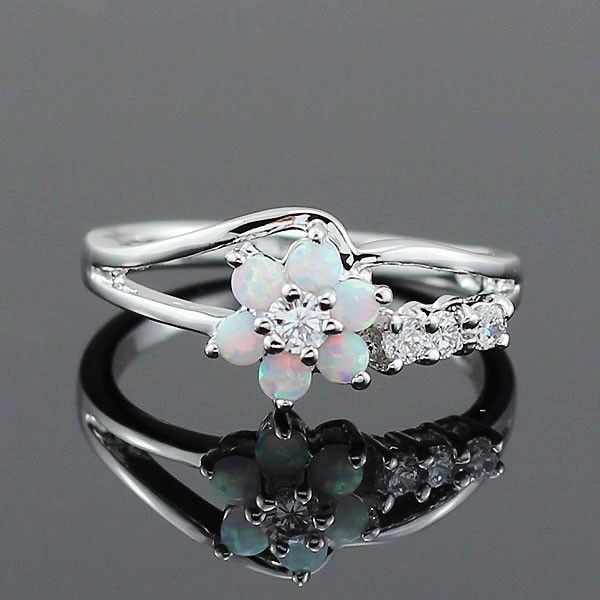 Opal Flower Ring - Luna's Warehouse - 1 - Tap on the link and check out my store and keep up to date with the latest must-haves at no bullshit prices!! We specialize in sourcing high-quality products and zero shipping costs so you know who to trust.