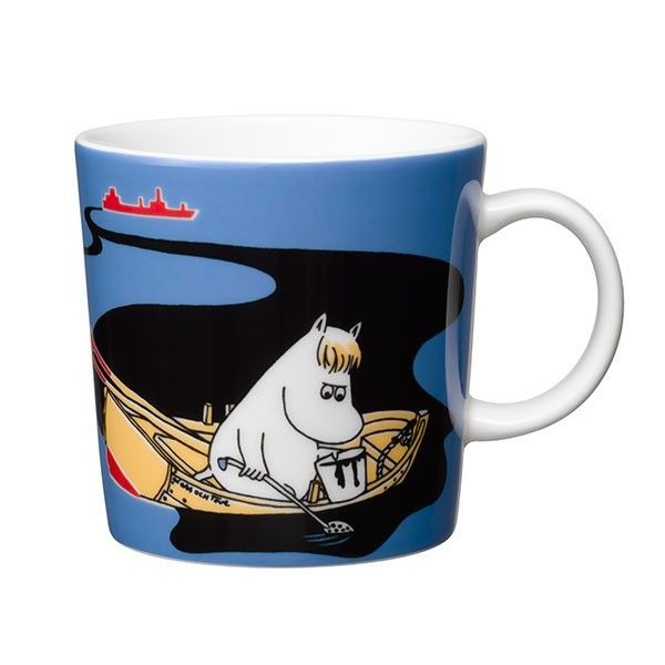 Håll Sverige Rent blue Moomin mug by Arabia - The Official Moomin Shop - 1