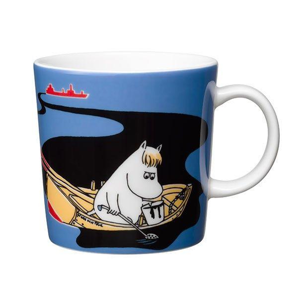 Håll Sverige Rent blue Moomin mug by Arabia - The Official Moomin Shop  - 1