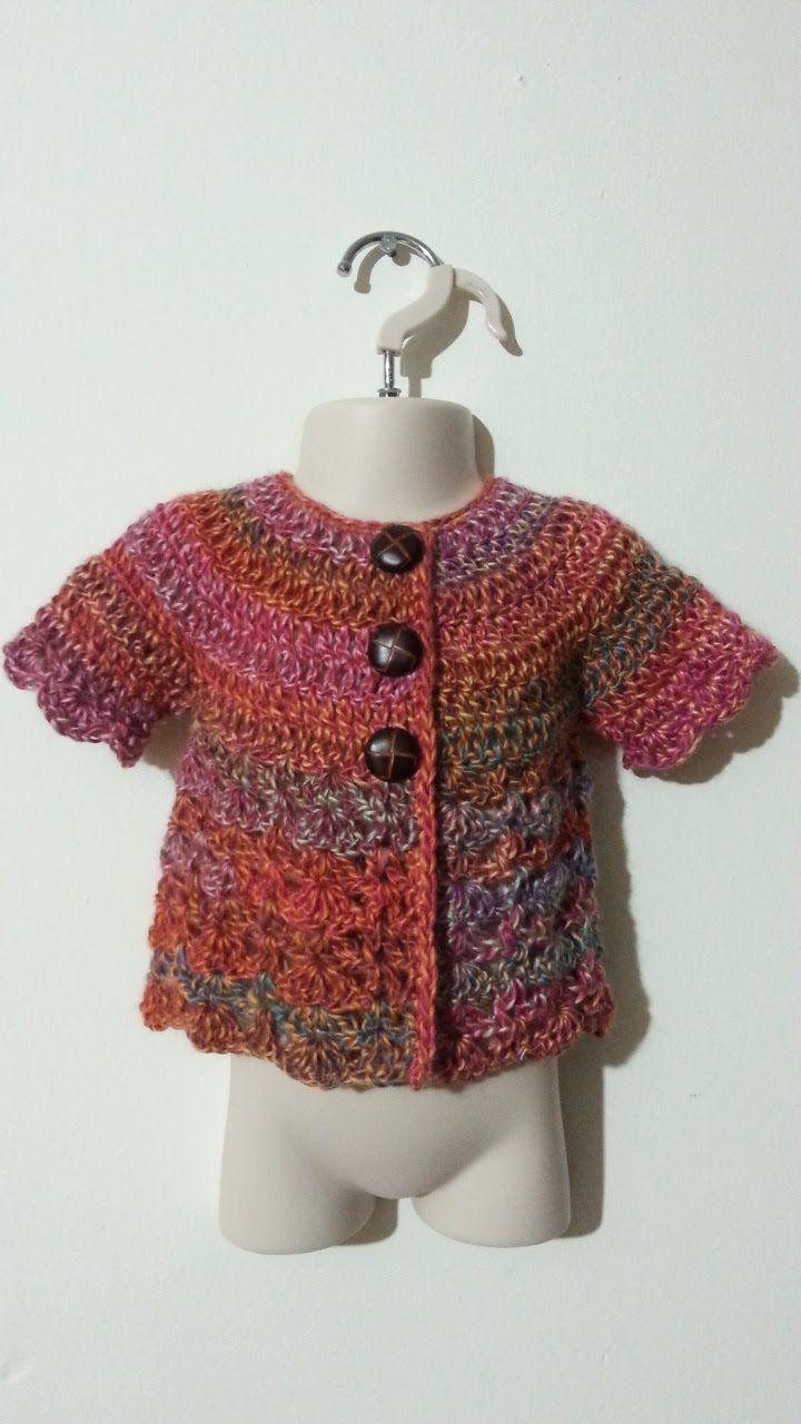 #Crochet Cute Baby Sweater Shirt #TUTORIAL