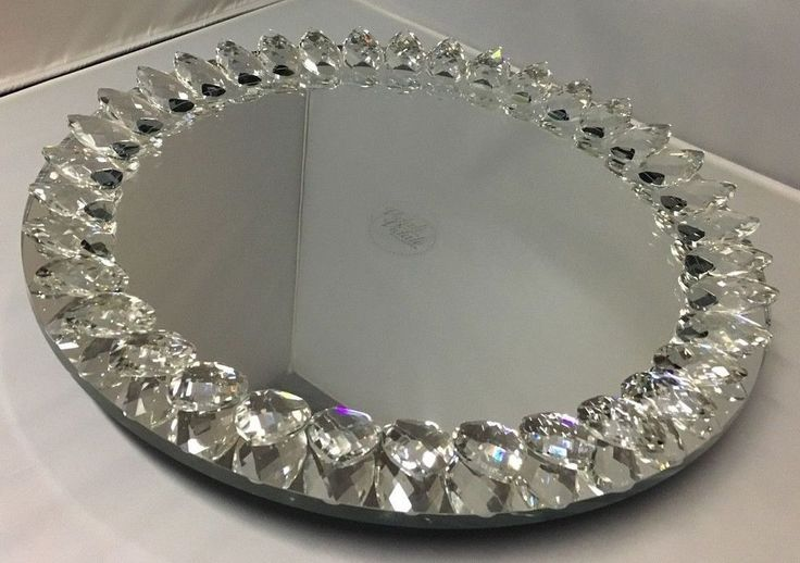 Vidali Collection 13 Quot Round Mirrored Lazy Susan 1 5
