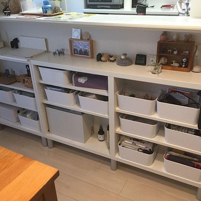 賢く使いやすく整えよう キッチンカウンター下の収納実例 収納 アイデア インテリア 収納 カウンター下収納