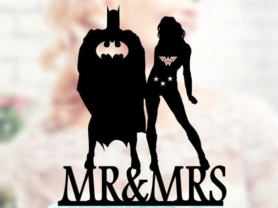 Wonder Woman and Batman Super Hero Topper Wonder Woman topper Superhero Silhouette Superhero Topper Superhero Batman Cake Topper , wedding topper figurines Hello.  Thank you for visiting my shop - TopperForWedding We make personalized Toppers for Wedding Cakes. We can produce unique Topper for you or for a gift to a Friends Wedding, Birthday, and other anniversaries.  ⇝⇝⇝ Wedding Topper ⇜⇜⇜ ► Toppers All that we have made to order!!! ► Materials - acrylic or wood (1/8 the thickness of th...