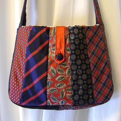 Tramps Like Us - Recycled Necktie Messenger Bag | betsygrace | Flickr