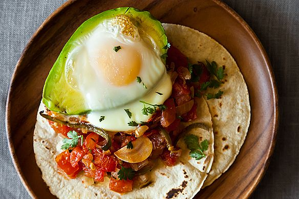 Avocado y Huevos Caliente + 12 other ways to eat eggs for dinner on Food52: http://f52.co/1eq84hn. #Food52