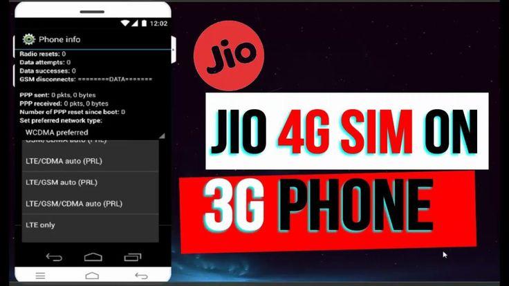 How to Use Reliance JIIO 4G SIM in 3G Phone