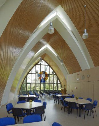 interior of the parochial community center by Room for architecture #interior #architecture #church