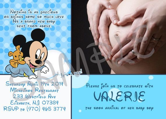 Mickey Mouse Baby Shower Invitation Printable Baby Shower