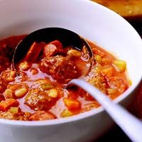 Meatball and sausage stew