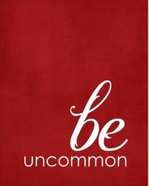 BE UNCOMMON. T H E F U L L E R V I E W   HELLO IT HAS BEEE IN IT. THAT'S PART OF MY NAME.